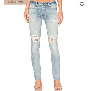 NWT RE/DONE original low rise skinny jeans